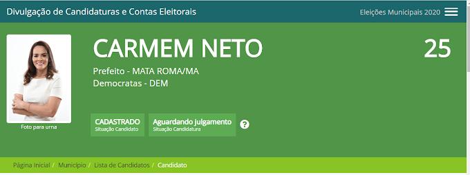 Carmem Neto e vice registram candidatura e plano de Governo no TSE, e reforçam compromisso com a população mataromense; Veja a integra do programa de Governo.