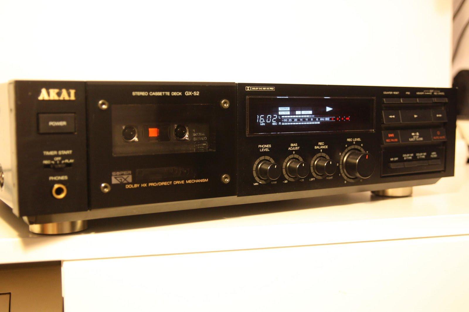 Akai Gx 52 Stereo Cassette Deck Audiobaza
