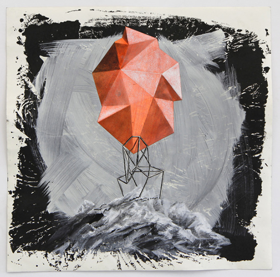 Lenneke van der Goot Construction Place, 2019 mixed media on paper 80 x 80 cm