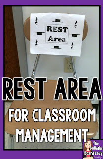 "Create a ""Rest Area"" in your music room as a tool for classroom management.  Learn more about how this can work in your elementary classroom in this blog post."