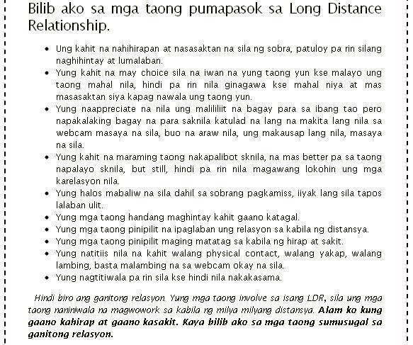 Tagalog Love Quotes Long Distance Relationship: Tagalog Long Distance Relationships Best Quotes And
