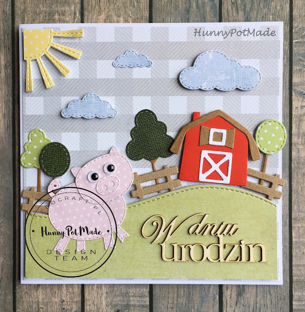 Funny piggy Birthday card