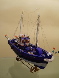 maqueta estática de barco pesquero de langostas Atlantis