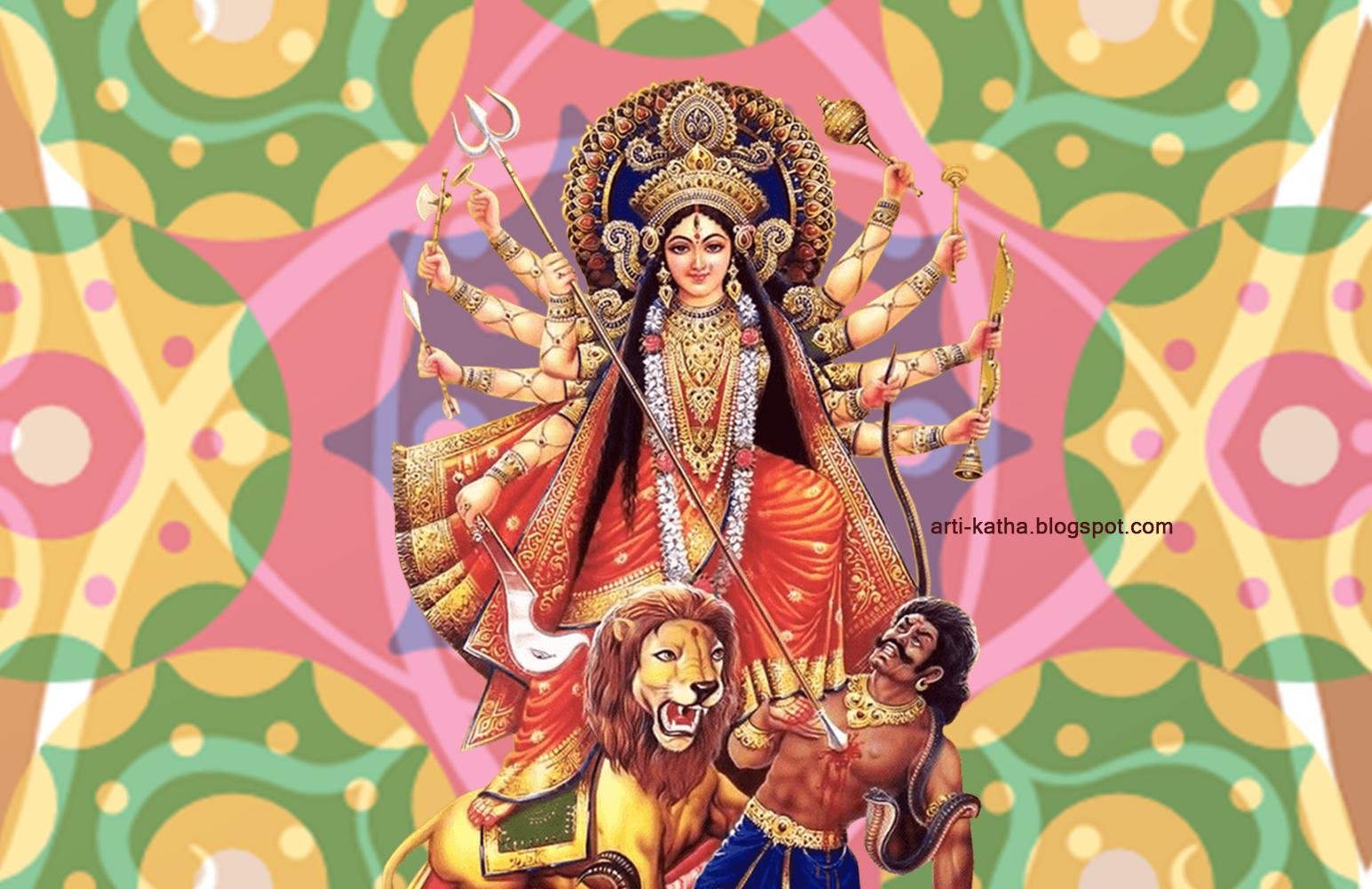 3d Wallpaper Jai Mata Di Hd Wallpaper Of Maa Durga