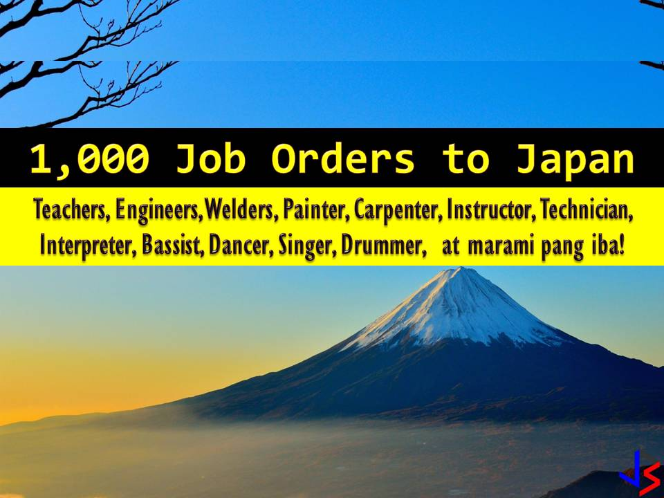Japan is currently hiring for Filipino workers. This is the latest job orders from Philippine Overseas Employment Administration (POEA) employment sites this 2018. There are many companies in Japan who wants to hire Filipino workers. International employment opportunities in Japan are open for welders, engineers, English teachers, painter scaffolders, livestock agriculture workers, and many others.