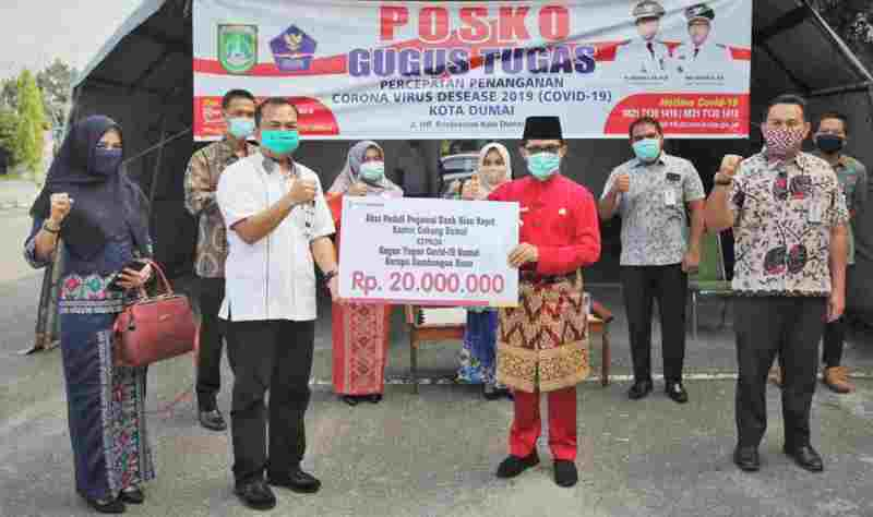 Pemko Dumai Terima Bantuan Penanganan Covid-19 dari Bank Riau Kepri
