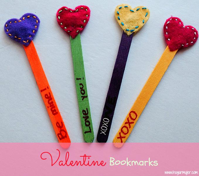 Marcapáginas De Corazones Para San Valentín