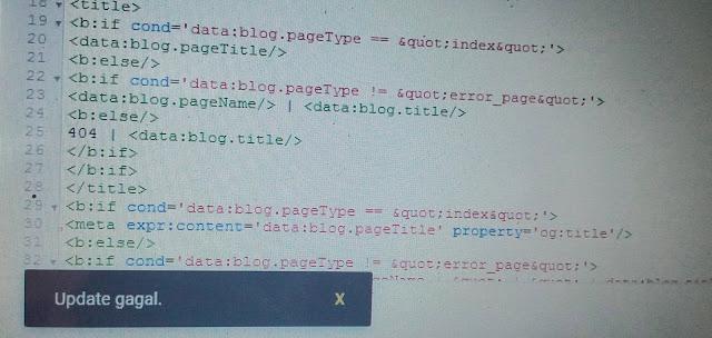 Cara mengatasi HTML yang gagal update