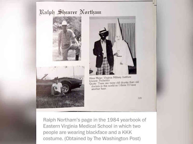 Virginia Governor, Ralph Northam Says of Racist Photo