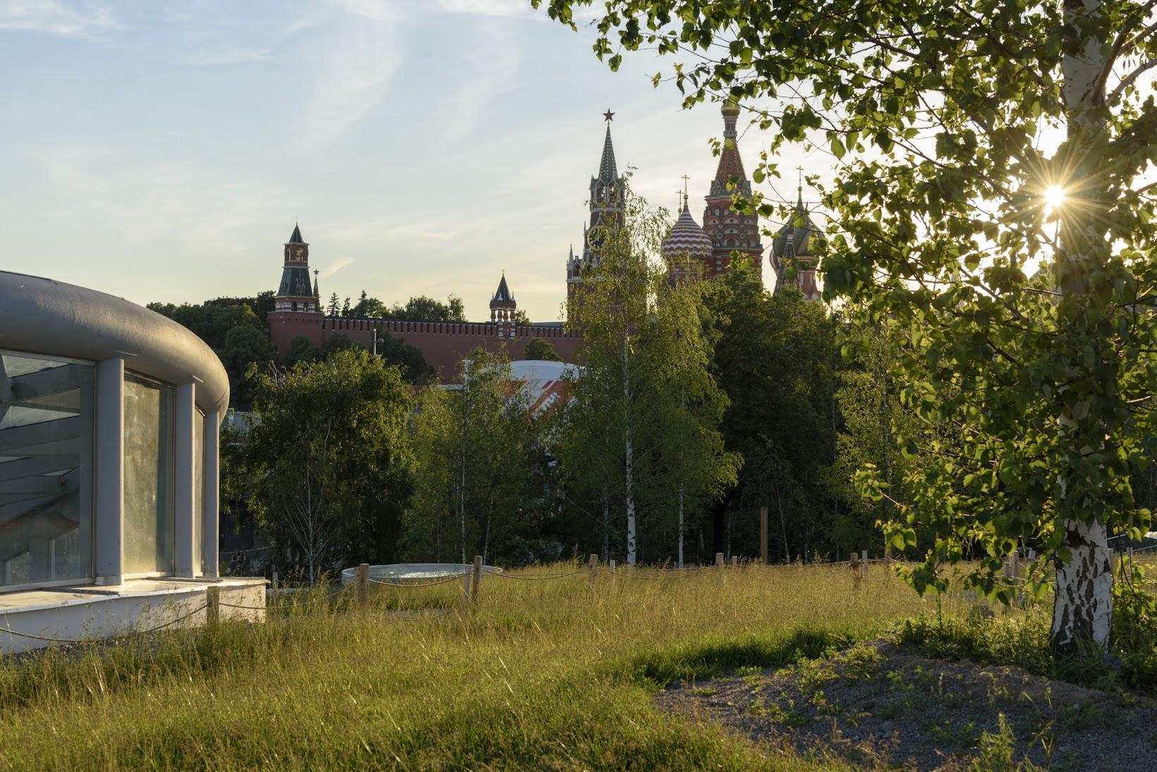 Березки и Кремль в Зарядье.