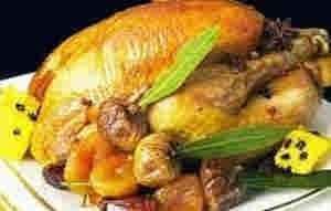 دجاج محشى بالفواكه الجافه