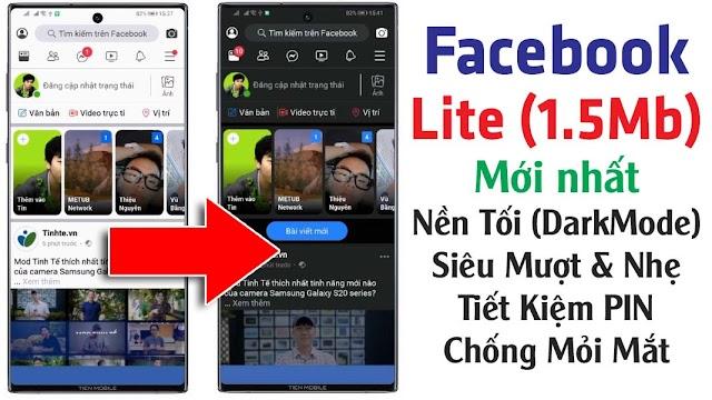 Chia sẻ Facebook Lite cập nhật chế độ Dark Mode mới nhất cho Android