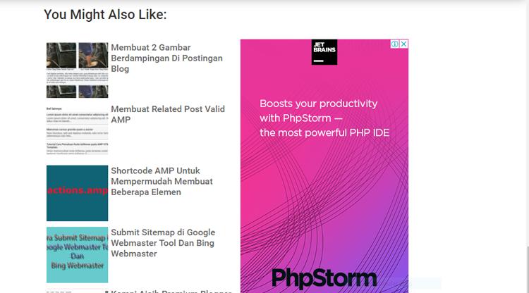 Membuat Related Post Berdampingan Dengan Iklan AdSense Di Blog AMP HTML