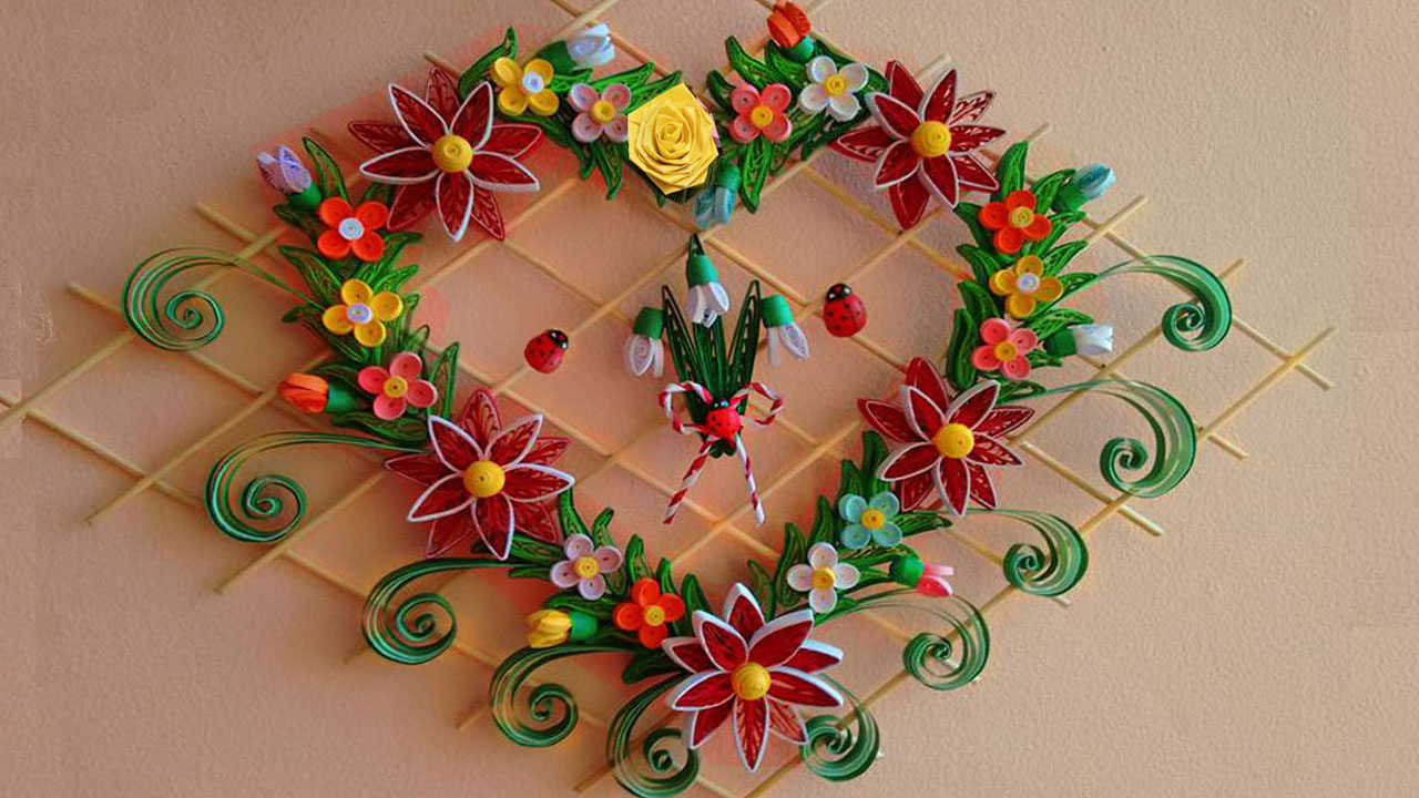 Heart Shaped Wall Hanger for Room Decoration