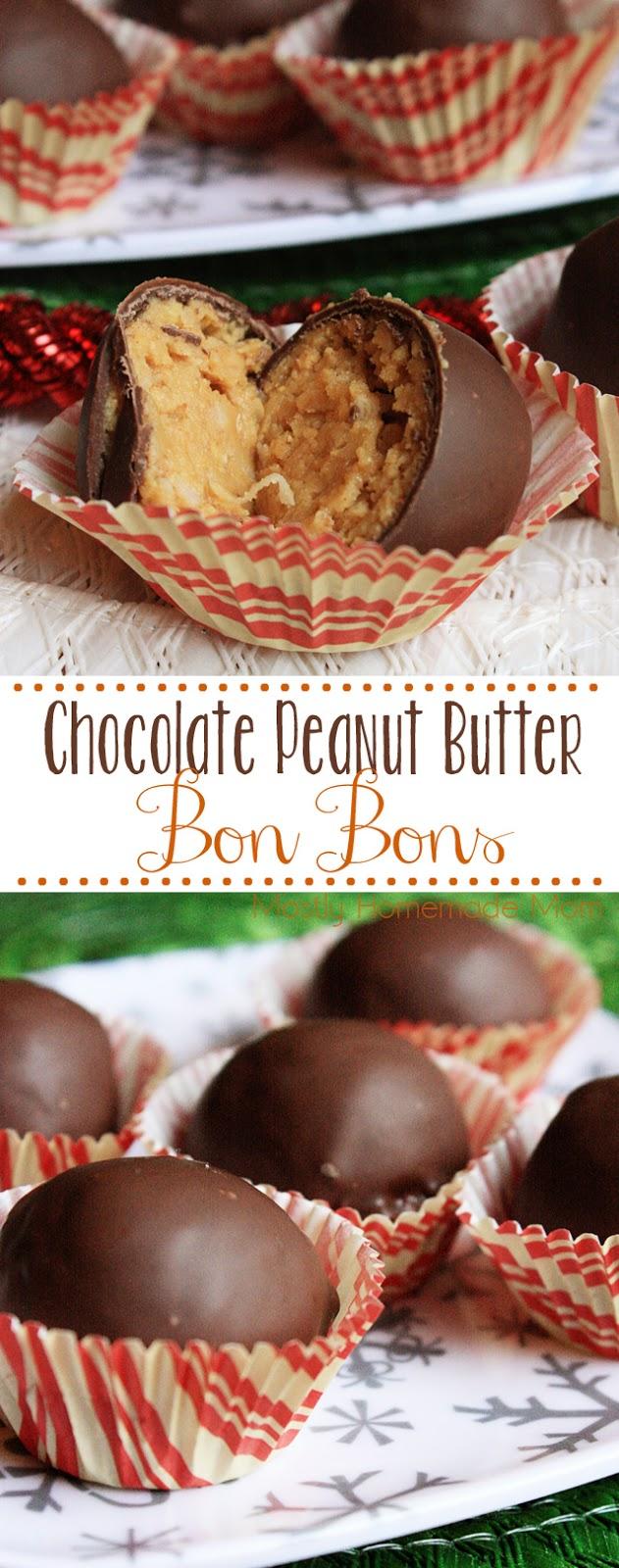 peanut butter chocolate bon bons recipe