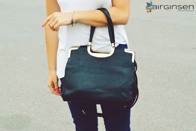 duża, czarna torba