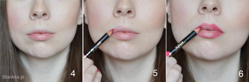 jak powiększyć usta krok po kroku, jaki makijaż na powiększenie ust, jak powiększyć usta makijażem, makijaż powiększający usta