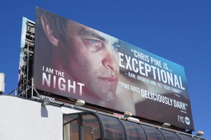 Chris Pine I Am The Night Emmy FYC billboard