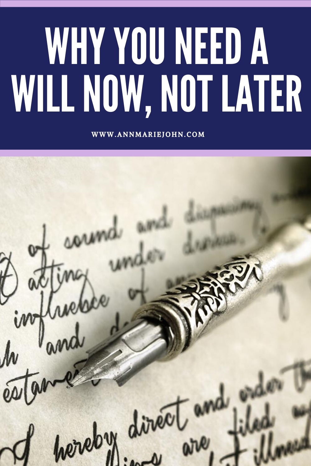 Why You Need a Will Pinterest Image