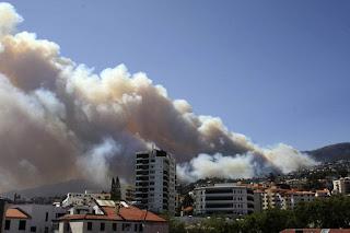 Incendio na Madeira