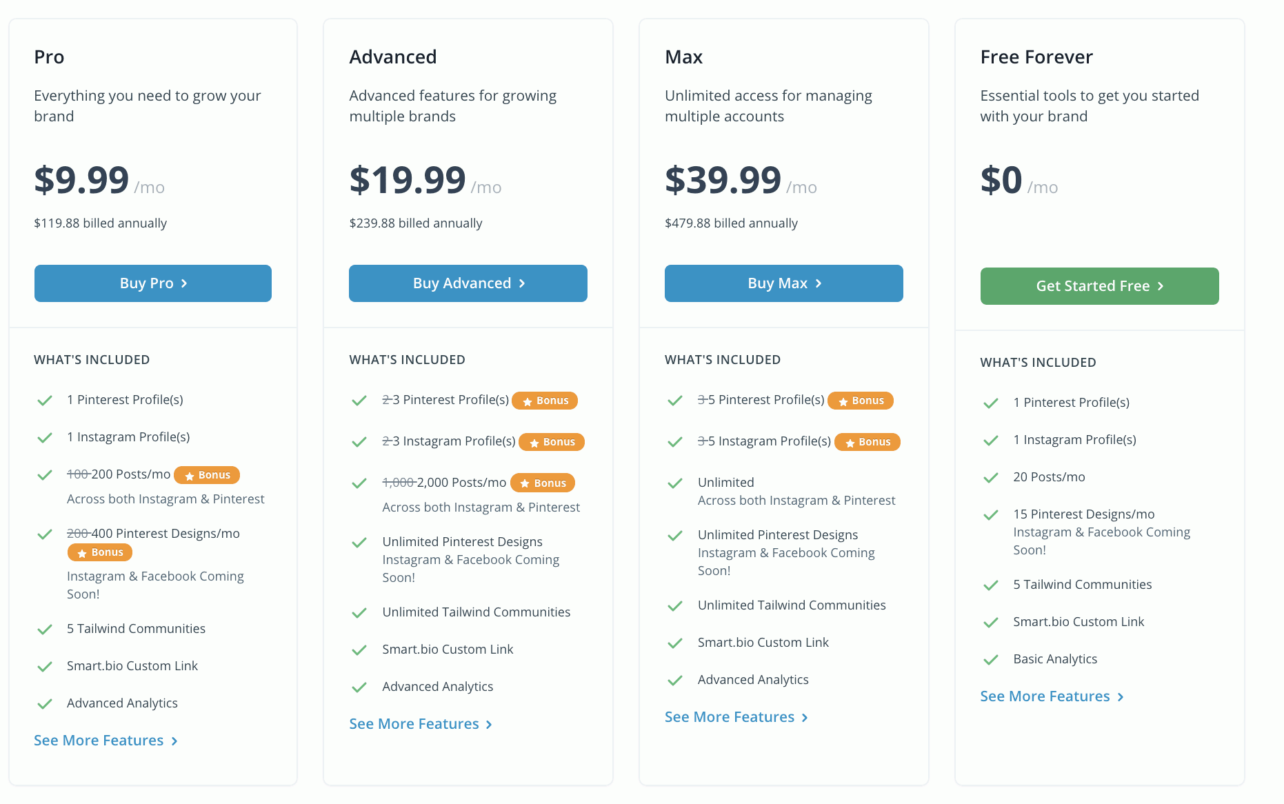 Tailwind pricing | A Relaxed Gal