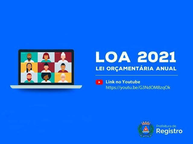 Orçamento: Prefeitura de Registro-SP recebe propostas para a LOA 2021