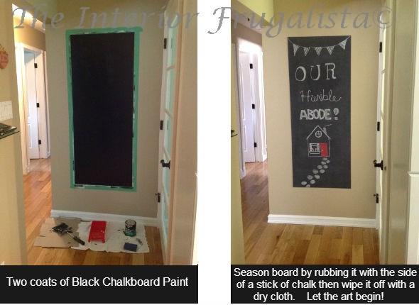 Chalkboard Wall Prep Steps 3-4