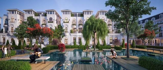 Biệt thự có thiết kế châu Âu tại dự án Louis City.