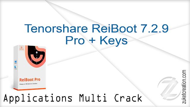 Tenorshare ReiBoot 7.2.9 Pro + Keys      |  12.6 MB
