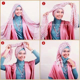 Cara Memakai Jilbab Segi Empat Sederhana