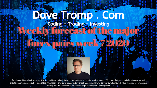 Weekly forecast of the major forex pairs week 7 2020