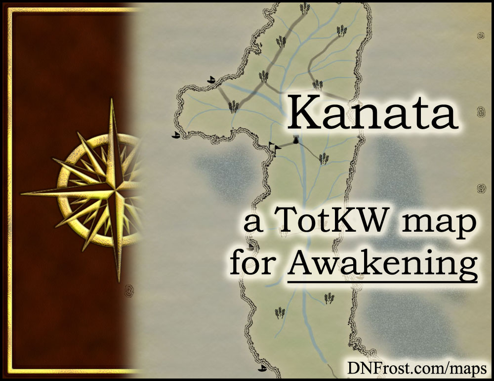 Kanata: tropical paradise of plantations and aristocrats www.DNFrost.com/maps #TotKW A map for Awakening by D.N.Frost @DNFrost13 Part 11 of a series.
