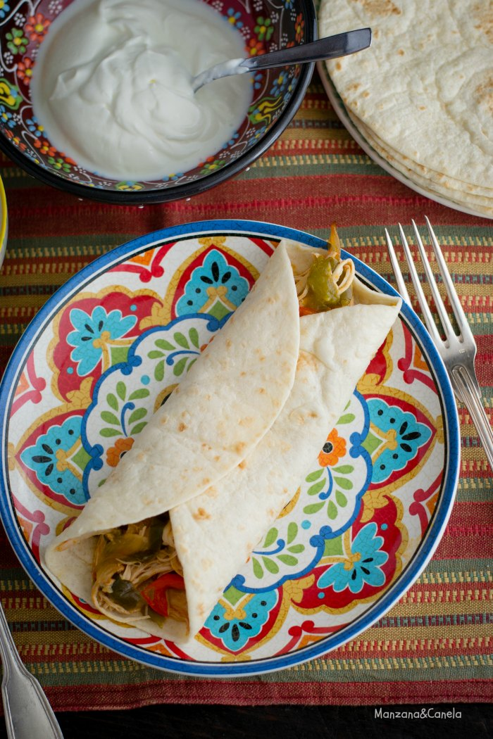 Fajitas de pollo Tex-Mex (con Crock Pot)