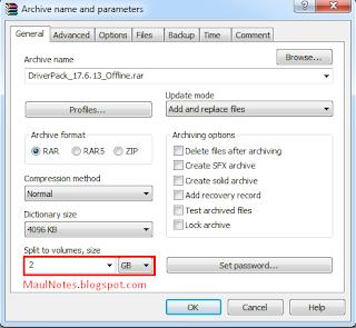 Maulnotes.blogspot.com-Memecah File Menggunakan Winrar 3
