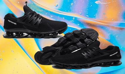 AILADUN Men Sneaker Breathable Mesh Sports Shoes Large Size-Black EU 41