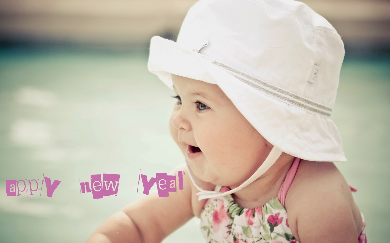 Happy New Year 2014 Cute Baby HD Wallpaper. 1600 x 1000.Happy New Years Baby Pictures