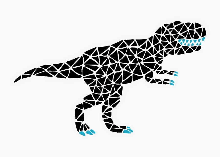 Jen Haugan | Mosaic Dinos | T. Rex