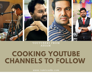 Male chefs are dominating the restaurant sectors. Similarly there are many male youtubers who shares recipe vedios on YouTube. Through this post I am going to introduce 4 such upcoming youtubers from Assam who like to share food related videos on their YouTube channels.
