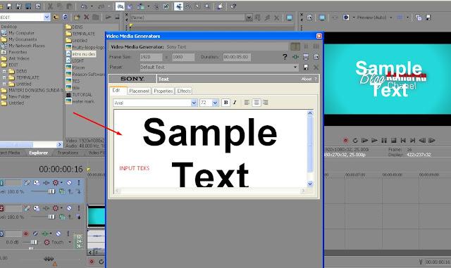 Tutorial Sony vegas pro - Membuat tulisan atau teks