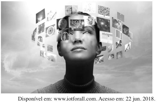 ENEM 2020: A realidade virtual é uma tecnologia de informação que, conforme sugere a imagem, tem como uma de suas principais funções