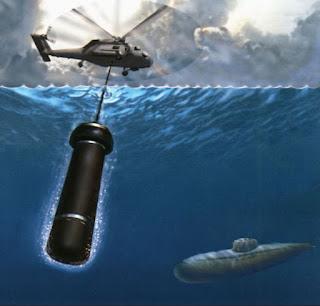 Гидролокационная система AQS-18(V)-5  с погруженным в воду датчиком