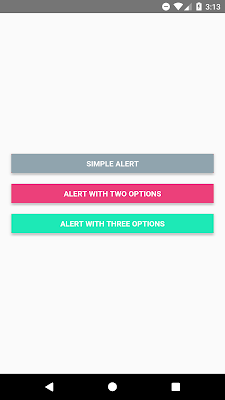 How to show an alert in React Native