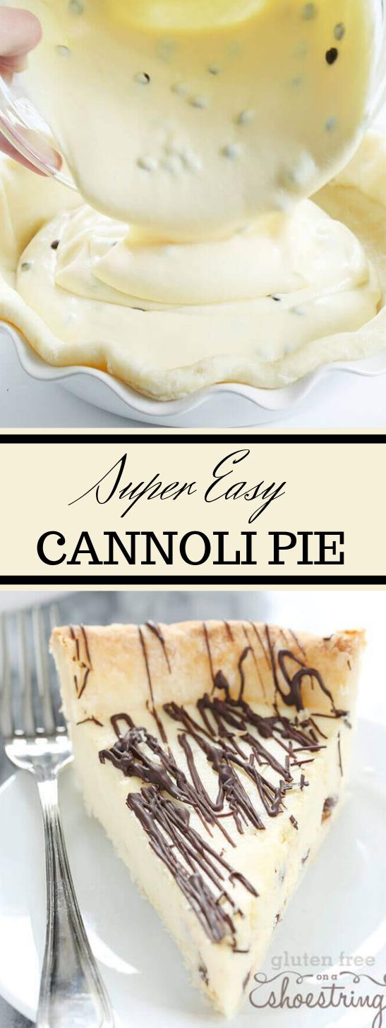 Super Easy Gluten Free Cannoli Pie #pie #desserts #cakes #healthycake #easy