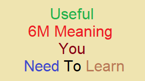 6M Meaning