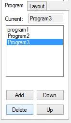 Led Edit Delete a program