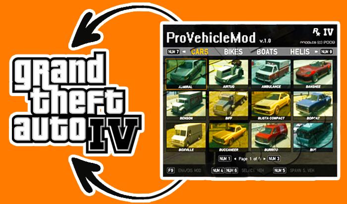 GTA IV Pro Vehicle Spawner Mod Menu Trainer | Download GTA 4 Mod