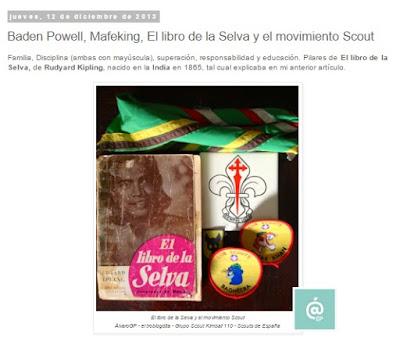 Lo + leído en el troblogdita - abril 2016 - ÁlvaroGP - el troblogdita - el fancine - Baden Powell, Mafeking, El libro de la selva y el movimiento Scout / Kimball 110