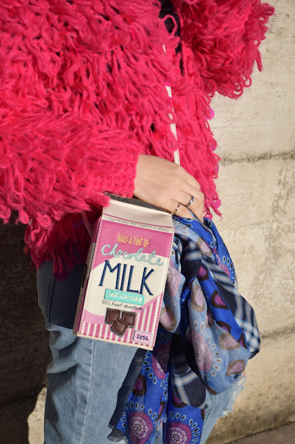 milk bag maglione fucsia