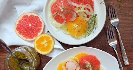 Refreshing Fennel Citrus Salad with Orange Maple Dressing