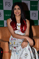 Bollywood Actress Adah Sharma Pos in White Printed Short Dress at OPPO F3 Plus Selfie Expert Mobile Launch .COM 0007.jpg